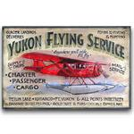 YUKON FLYING SERVICE Vintage Wood Sign