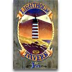 LIGHTHOUSE TAVERN Vintage Wood Sign