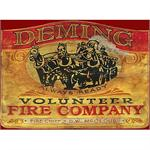 VOLUNTEER FIRE DEPARTMENT Vintage Wood Sign