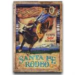 Santa Fe Rodeo Vintage Western Decor Wood Sign 20x30