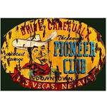 Pioneer Club Vintage Wood Sign