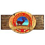 ANTLERS LODGE customizable vintage wood sign