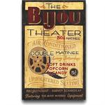 Bjou Theater Vintage Style Wood Sign
