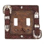 Western Buckle Dbl Switchplate