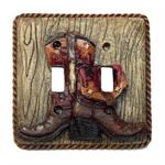 Cowboy Boots Double Switch Wall Plate