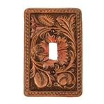 Faux Tooled Western Single Switchplate Cover