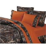 Hunters Orange and Camo Sheet Set Full