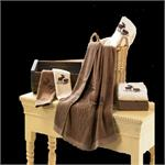Moose Bath Towel Set (3) Pc Cream