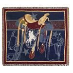 Back In The Saddle Western Afghan Throw Blanket