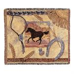 Cheyenne Western Afghan Throw Blanket