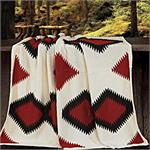 Dakota Lodge Hand Knitted Throw Blanket