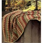 Wilderness Ridge Knitted Throw Small Diamond Navajo Pattern