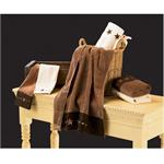Star Embroidered Chocolate Mocha 3 pc Towel Set