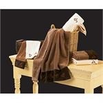 Cattle Ranch Brands Cream Embroiderd Bath Towels (2)