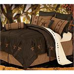 Laredo Star Faux Leather Comforter Set