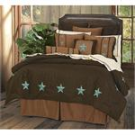 Laredo Star Black Faux Suede Comforter Set