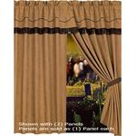 Barbwire Window Curtain (1) Panel (with attached valance)