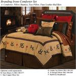 Branding Irons and Diamonds Western Bedding Ensemble Super King