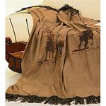Team Ropers Barbwire Throw Blanket