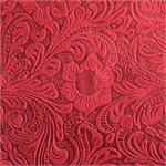 Cheyenne Faux Tooled Leather Fabric Red
