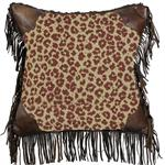 Austin Leopard Throw Pillow