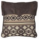 Tucson Faux Leather Top Printed Throw Pillow
