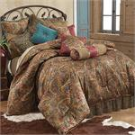 San Angelo Bedding Set Leopard Bed Skirt