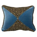 San Angelo Leopard Teal Pillow