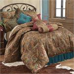 San Angelo Bedding Set (Teal) Bedskirt