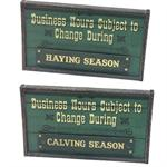 Business Hours Novelty Changable Western Wood Sign