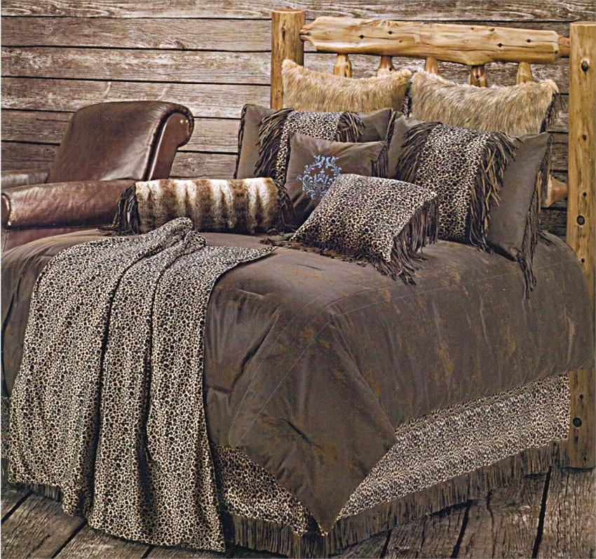Leopard Western Bedding Comforter Set Super King
