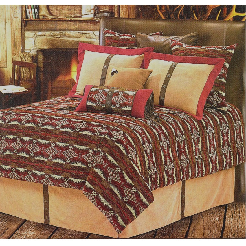 Navojoa Southwestern Bedding Comforter Set Super King