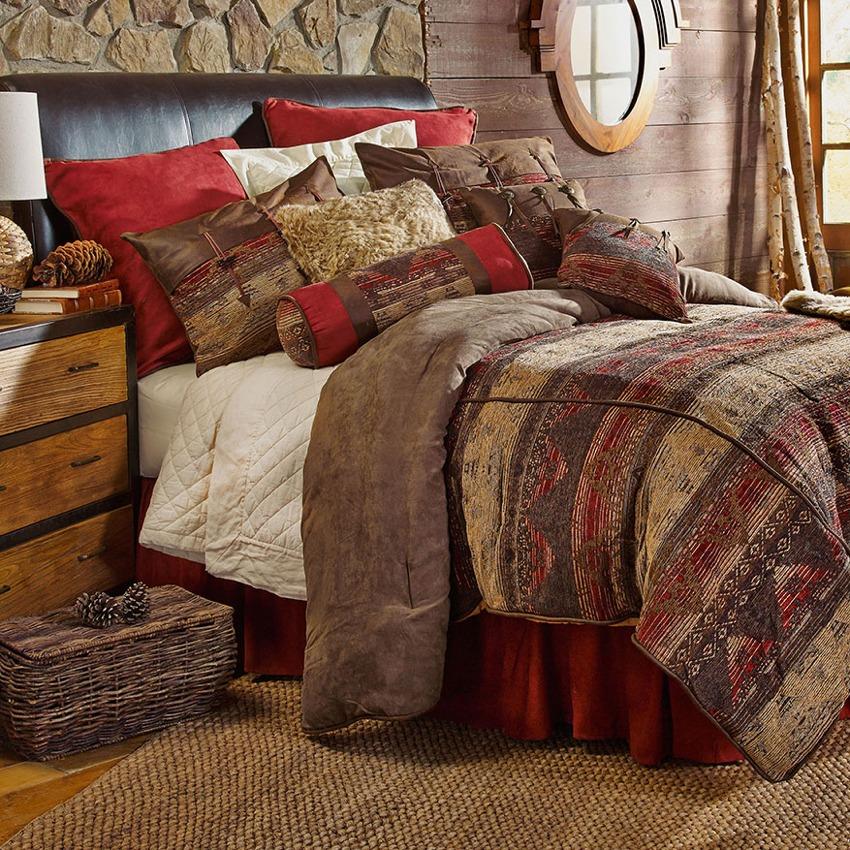 Sierra Southwestern Chenille Bedding Comforter Set Super