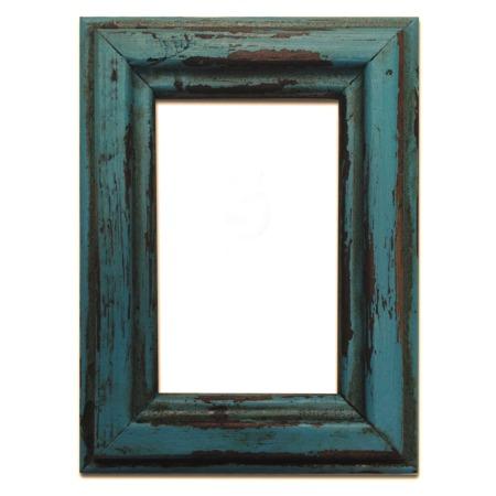 Rustic Distressed Wood 8x10 Picture Frame Turquoise