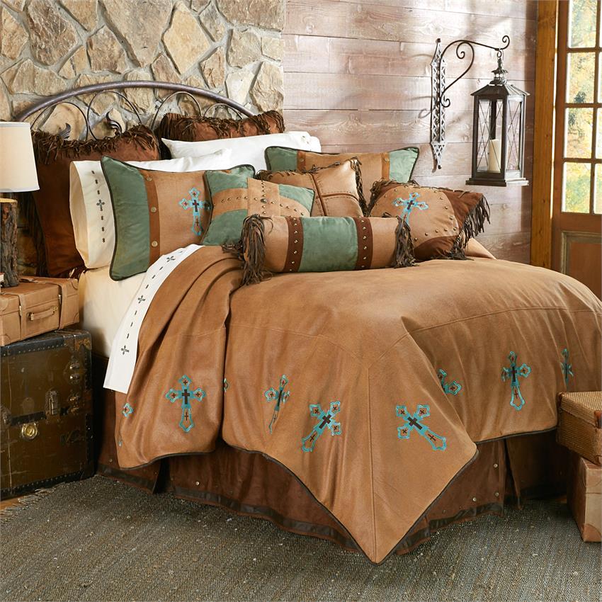 Las Cruces Ii Western Cross Comforter, Southwest Bedding Clearance