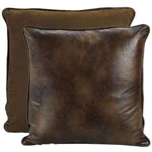 Distressed Faux Leather Euro Sham Bianca II