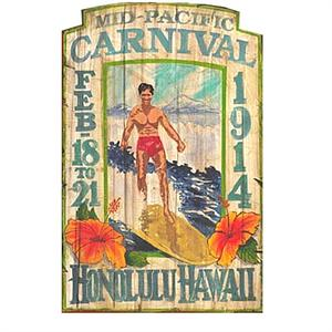 PACIFIC CARNIVAL Vintage Wood Sign