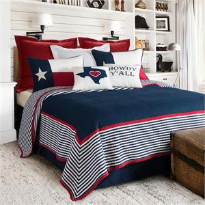 ImageRanger Texas Themed Printed Quilt Set