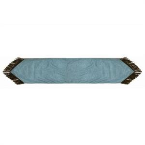Cheyenne Faux Tooled Leather Table Runner Turquoise