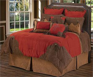 Red Rodeo Comforter Western Bedding Ensemble