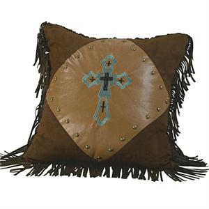 Las Cruces Cross Embroidered Pillow