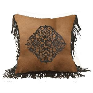 Las Cruces II Embroidered Design Throw Pillow