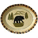Lodge Bear Stoneware Serving Plate