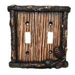 Pine Cone Decorative Switch Wall Plate Double Switch