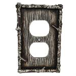 Birch Decorative Outlet Wall Plate Single Rustic Decor