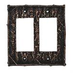 Camo Tree Bark Switch Wall Plate Double Rocker