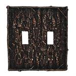 Camo Tree Bark Switch Wall Plate Double Switch