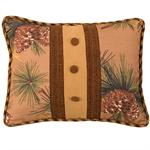 Crestwood Rustic Pine Cone Button Pillow