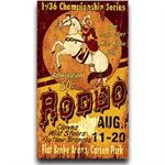 Angel Starr Rodeo Vintage Western Decor Sign 15x24