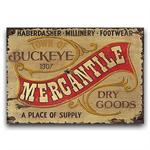 Vintage Wood Sign Western Decor Mercantile Sign 26x14